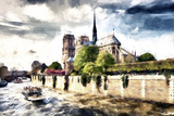 Notre Dame Cathedral Paris Giclee Print by Philippe Hugonnard