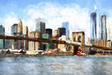 View of Midtown Manhattan Giclee Print by Philippe Hugonnard