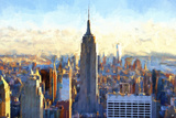 View of Manhattan Giclee Print by Philippe Hugonnard