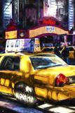 NY Taxi Giclee Print by Philippe Hugonnard