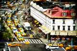 Taxis Diner Giclee Print by Philippe Hugonnard