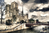 Paris Notre Dame Giclee Print by Philippe Hugonnard
