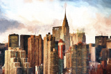 New York Skyscrapers Giclee Print by Philippe Hugonnard