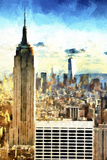 Cityscape Sunset Giclee Print by Philippe Hugonnard