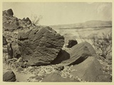 Rock Carved by Drifting Sand, Below Fortification Rock, Arizona, 1871 Photographic Print by Timothy O'Sullivan