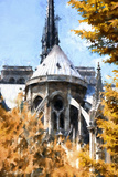 Notre Dame Cathedral in Autumn Giclee Print by Philippe Hugonnard