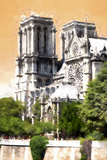Paris Notre Dame Cathedral Giclee Print by Philippe Hugonnard