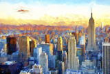 New York View Giclee Print by Philippe Hugonnard