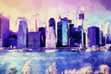 Downtown Skyline Giclee Print by Philippe Hugonnard