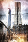 Manhattan Towers Giclee Print by Philippe Hugonnard