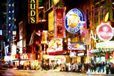 NY Night Life Giclee Print by Philippe Hugonnard