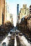 Urban Winter Street Giclee Print by Philippe Hugonnard