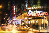 Broadway at Night II Giclee Print by Philippe Hugonnard