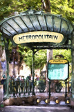 Metropolitain Abbesses Montmartre Giclee Print by Philippe Hugonnard