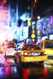 Manhattan Taxis Giclee Print by Philippe Hugonnard