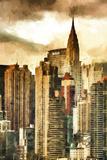 New York Skyscrapers II Giclee Print by Philippe Hugonnard