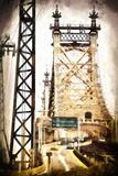 Ed Koch Queensboro Bridge Traffic Giclee Print by Philippe Hugonnard