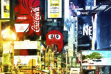 Times Square in the Spotlight Giclee Print by Philippe Hugonnard