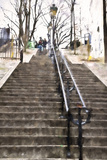 Montmartre Stairs Paris Giclee Print by Philippe Hugonnard
