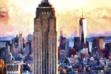 Empire State & 1 World Trade Giclee Print by Philippe Hugonnard