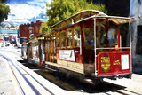 Powell and Market Cable Car Giclee Print by Philippe Hugonnard