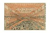 Perspective Picture of a Kabuki Theater (Uki-E Kabuki Shibai No Zu), C.1776 Giclee Print by Utagawa Toyoharu
