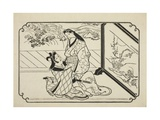 Behind the Screen, C.1673-81 Giclee Print by Hishikawa Moronobu