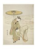 The Snow-Clogged Geta, C.1767-68 Giclee Print by Suzuki Harunobu
