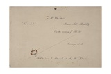 Invitation to Mr. Whistler's Ten O'Clock, 1885 Giclee Print by James Abbott McNeill Whistler