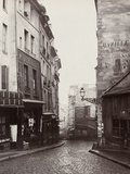 Rue De La Montagne-Sainte-Geneviève Near the Intersection of Rue Laplace, 1865-69 Photographic Print by Charles Marville