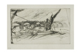 Vauxhall Bridge, 1861 Giclee Print by James Abbott McNeill Whistler