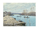 The Seine at Port-Marly, Piles of Sand, 1875 Giclee Print by Alfred Sisley