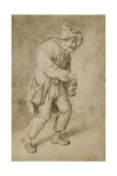 Hurdy-Gurdy Player, 1695 Giclee Print by Cornelis Dusart