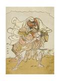 The Warrior Omori Hikoshichi Carrying a Female Demon on His Back, C.1772 Giclee Print by Katsukawa Shunsho