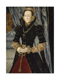 Portrait of a Lady of the Wentworth Family (Probably Jane Cheyne), 1563 Giclee Print by Hans Eworth