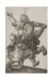 Peasant Couple Dancing, 1514 Giclee Print by Albrecht Dürer