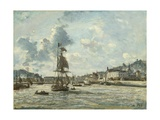 Entrance to the Port of Honfleur, 1863-64 Giclee Print by Johan-Barthold Jongkind