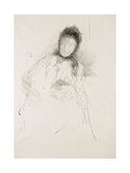 Unfinished Sketch of Lady Haden, 1895 Giclee Print by James Abbott McNeill Whistler