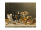 Wine, Cheese, and Fruit, 1857 Giclee Print by John F. Francis