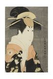 The Actor Segawa Tomisaburo II as Yadorigi, Wife of Ogishi Kurando, 1794 Giclee Print by  Toshusai Sharaku