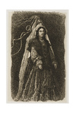 Woman in Fantastic Medieval Costume Giclee Print by Rodolphe Bresdin