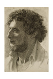 Italian Head, C.1856 Giclee Print by Edgar Degas