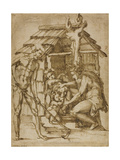 First Family before a Shelter, 1547-48 Giclee Print by Baccio Bandinelli