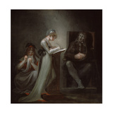 Milton Dictating to His Daughter, 1794 Giclee Print by Henry Fuseli