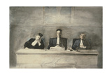 The Three Judges, 1858-60 Giclee Print by Honore Daumier