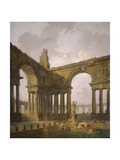 The Landing Place, 1787-88 Reproduction procédé giclée par Hubert Robert