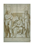 Fortitude (Or Strength) Flanked by Two Satyrs Giclee Print by  Veronese