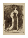 Study for Arrangement in Black: Lady Meux, 1881 Giclee Print by James Abbott McNeill Whistler