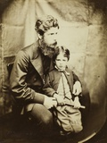 Rev. James Langton Clark and Son Charles (Robin), 1864 Photographic Print by Lewis Carroll