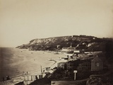 The Beach at Sainte-Adresse, with the Dumont Baths, 1856-57 Photographic Print by Gustave Le Gray
